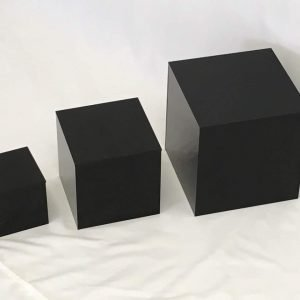 Black Small Square Cubes