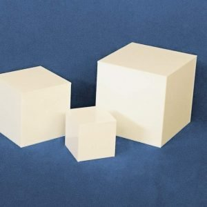 White Small Square Cubes