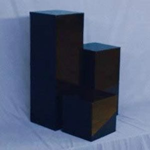 Gloss Black Square Columns