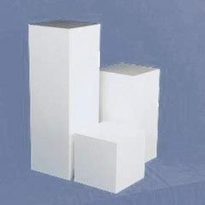 Gloss White Square Columns