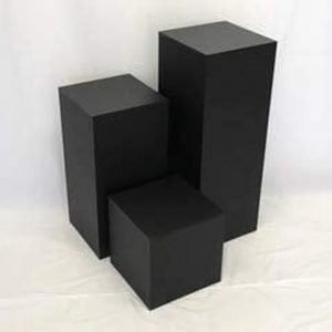 Matte Finish Black Square Columns