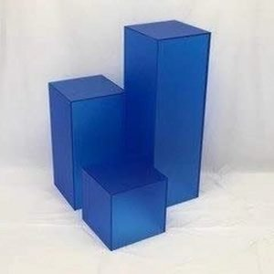 Matte Finish Blue Square Columns