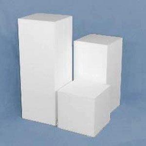 Matte Finish White Square Columns