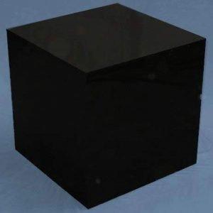 Black Large Square Cubes