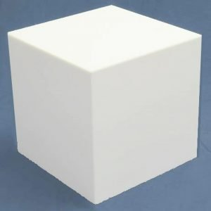 White Large Square Cubes